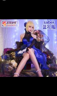 Fate grand order/ fgo/ fate stay night extella saber cosplay [PO]