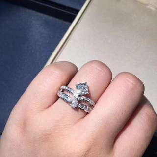Chaumet 尚美 皇冠咕𠱸形鑽石戒指