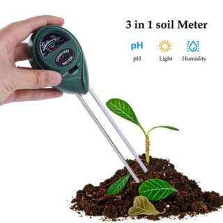 🚚 [PROMO] 3-in1 Soil Tester PH Moisture Light Meter For Outdoor Indoor Plants Gardens Grass Lawn UP $20.90. Offer price $9.90!