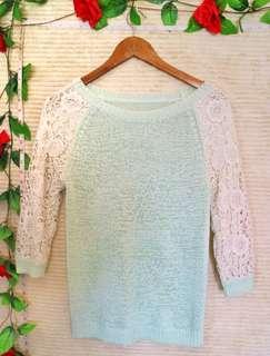 ⚡PRELOVED⚡Mint Green Knit Top
