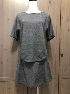 ZARA 針織棉黑細橫條紋(可拆買)