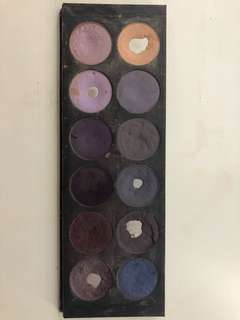 Mac purple makeup pallet