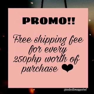Free shipping promo!