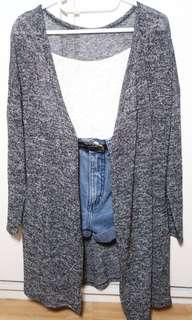 Dark Gray Knitted cardigan