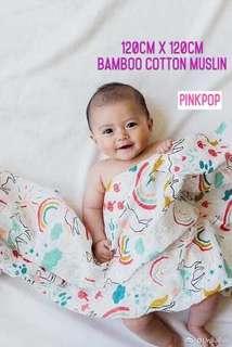 Unicorn Baby Blanket - Bamboo Cotton Muslin