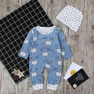 Toddler Baby Kids Boys Girls Infant Romper Jumpsuit Bodysuit Deer Outfit Sets