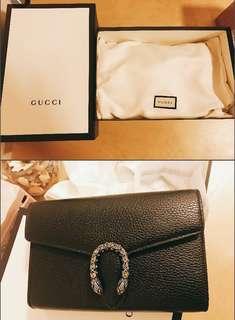 全新Gucci 大熱酒神包 Dionysus leather mini chain bag