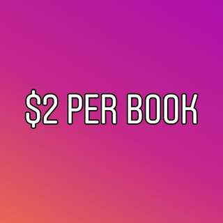 $2/BOOK CLEARANCE