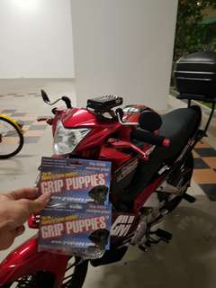 Grip Puppies installed on Yamaha Spark 135 on 8th June 2018