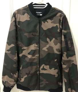 bomber jacket pria pull&bear original baru pake 2x