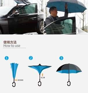 自動收傘 反向傘 雙層遮面