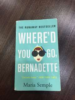 where'd you go,bernadette
