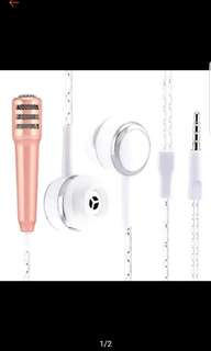 Earphone with microphone mic smule