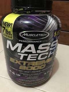 Muscletech Masstech Extreme 2000 (2260 calories, 80g protein)