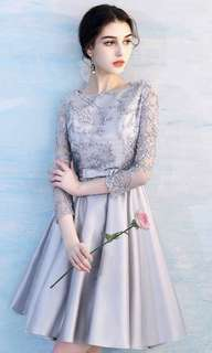 Grey Embroidery Bead Dress