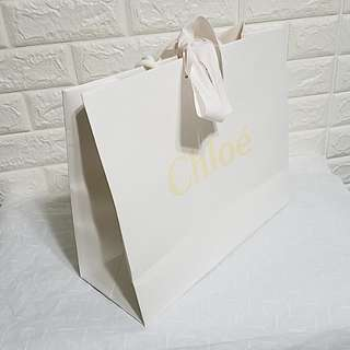 名牌紙袋 Chloe Paper bag with original ribbon