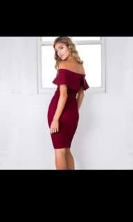 Europe and United States fashion new women's shoulder strapless split slim dress