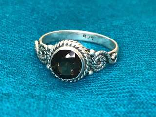 925 Silver Ring with Topaz