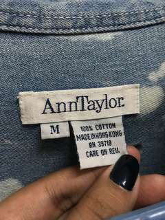 Ann Taylor Denim/Acid Wash Polo