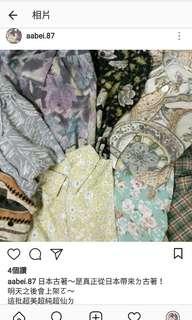 🚚 日本來ㄉ古著!古著襯衫 花花襯衫 超美超仙