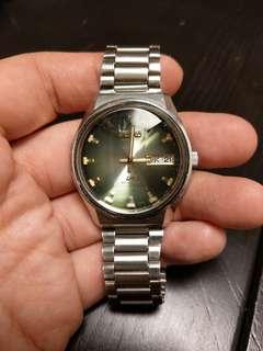 Seiko lm 機械錶,綠面,36mm 直徑, 日字