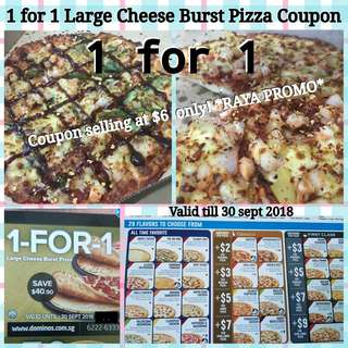 1 FOR 1 PIZZA COUPON (Cheese Burst)