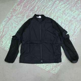 手袖拼接透網造型中性外套