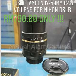 (USED) TAMRON SP 17-50MM F/2.8 LD DI VC LENS FOR NIKON DSLR CAMERA