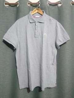 Moncler Gray Polo Shirt