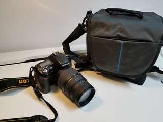 Nikon D90 + Sigma 70-300mm lens