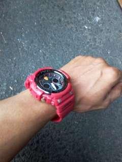 Jam tangan casio gshock sporty red