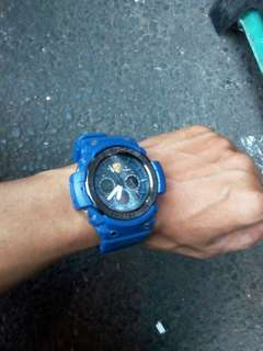 Jam tangan casio gsock sporty blue