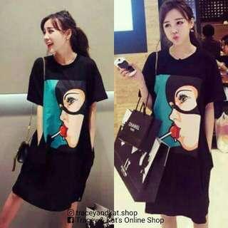 Korean Tshirt Dress