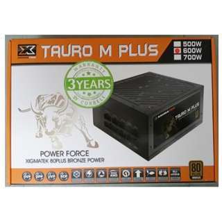 Xigmatek Tauro M+ 80 Plus BRONZE power supply (600w)