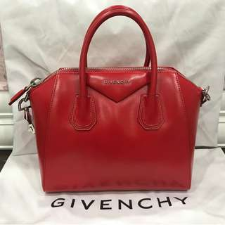 Authentic Givenchy Small Antigona Tote in Red