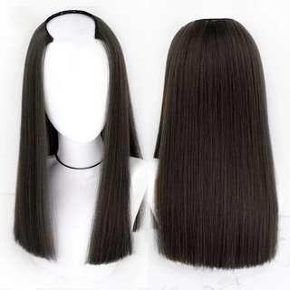 u-shape hair extension-black