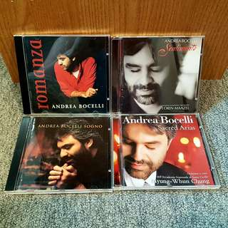*SOLD* Andréa Bocelli CD'S