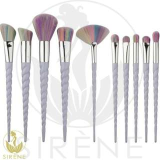 10 pieces unicorn design make up set