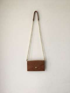 Authentic Rebecca Minkoff wallet on chain bag