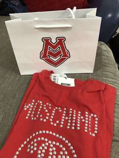 Moschino Red Oversized T-Shirt (Authentic)