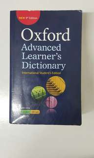9th edition Oxford Dictionary
