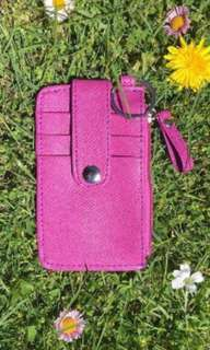 pink mini coin purse wallet