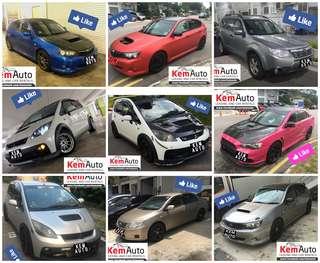Weekend Car Rental Honda Civic / Integra / stream / BMW 520i / Mercedes C180 / toyota estima previa / Mitsubishi Colt R / Lancer EX / Subaru Impreza SGT Forester