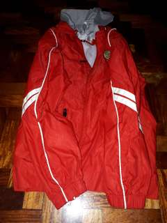 Red jacket wd hood size 18