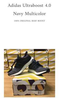 Adidas Ultraboost 4.0 Navy Multicolor 100% ORIGINAL BASF ADIDAS BOOST