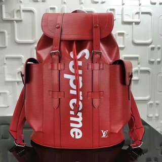 Backpack Lv Christoper epi leather Supreme