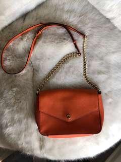 Michael Kors Orange leather bag crossbody