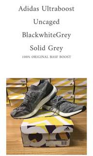 Adidas Ultraboost Uncaged Solid Grey 100% ORIGINAL BASF ADIDAS BOOST