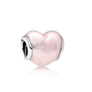 💖PANDORA moments glittering pink heart charm