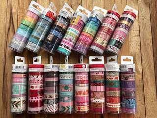 Washi Tape Tubes by Recollections, Craft Smart & Martha Stewart